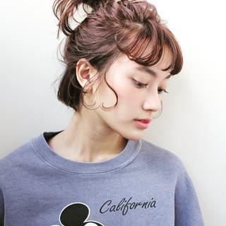 束感 シースルーバング アンニュイ ヘアアレンジ ヘアスタイルや髪型の写真・画像