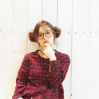 ヘアアレンジ ミディアム お団子 簡単ヘアアレンジ ヘアスタイルや髪型の写真・画像