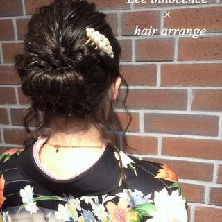 ショート 大人かわいい 暗髪 ミディアム ヘアスタイルや髪型の写真・画像