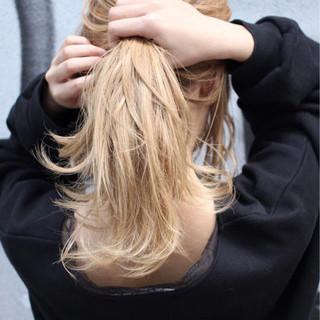 セミロング ナチュラル 透明感 外国人風カラー ヘアスタイルや髪型の写真・画像