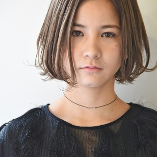 外国人風 ワンカール ナチュラル アッシュ ヘアスタイルや髪型の写真・画像