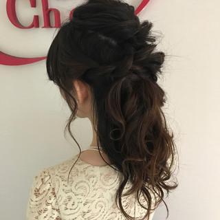 上品 エレガント 結婚式 ハーフアップ ヘアスタイルや髪型の写真・画像 ヘアスタイルや髪型の写真・画像