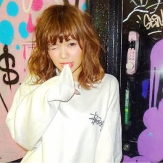 パンク ストリート ミディアム 春 ヘアスタイルや髪型の写真・画像