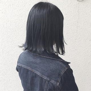 ボブ グラデーションカラー 暗髪 ダークアッシュ ヘアスタイルや髪型の写真・画像