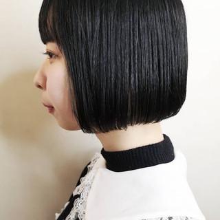ショートヘア N.オイル ストレート ボブ ヘアスタイルや髪型の写真・画像
