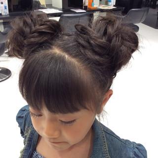 ツインテール 子供 ヘアアレンジ ガーリー ヘアスタイルや髪型の写真・画像 ヘアスタイルや髪型の写真・画像