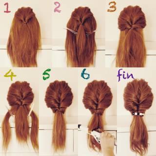 くるりんぱ セルフヘアアレンジ 簡単ヘアアレンジ ガーリー ヘアスタイルや髪型の写真・画像 ヘアスタイルや髪型の写真・画像