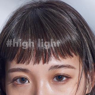 ヘアカラー 前髪パッツン モード 抜け感 ヘアスタイルや髪型の写真・画像