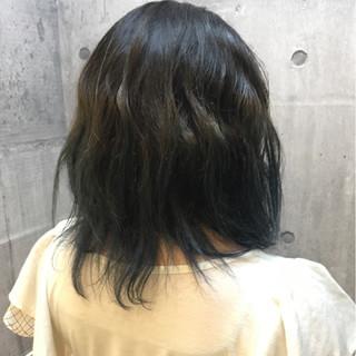 ミディアム グラデーションカラー イルミナカラー ストリート ヘアスタイルや髪型の写真・画像