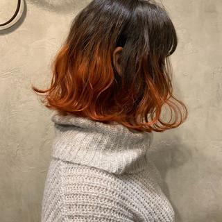 ピンク コーラル ストリート レッド ヘアスタイルや髪型の写真・画像