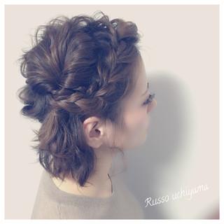 結婚式 ナチュラル 簡単ヘアアレンジ イルミナカラー ヘアスタイルや髪型の写真・画像