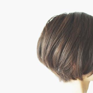 秋 ボブ 透明感 ショートボブ ヘアスタイルや髪型の写真・画像