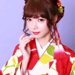 袴 アップスタイル 和装 ロング ヘアスタイルや髪型の写真・画像