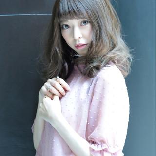 フェミニン 大人かわいい かわいい ゆるふわ ヘアスタイルや髪型の写真・画像