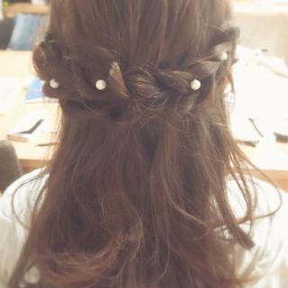 ヘアアレンジ 編み込み ゆるふわ ロング ヘアスタイルや髪型の写真・画像 ヘアスタイルや髪型の写真・画像