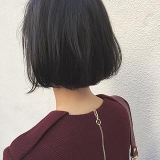ナチュラル 大人女子 切りっぱなし 外国人風 ヘアスタイルや髪型の写真・画像