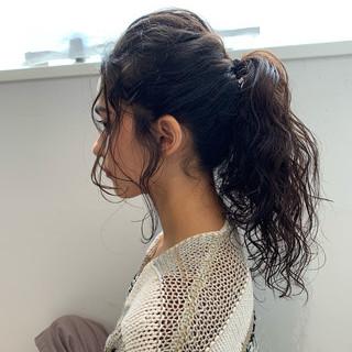 簡単ヘアアレンジ ロング 大人可愛い 大人カジュアル ヘアスタイルや髪型の写真・画像