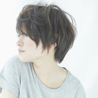 黒髪 ニュアンス ショート 大人女子 ヘアスタイルや髪型の写真・画像