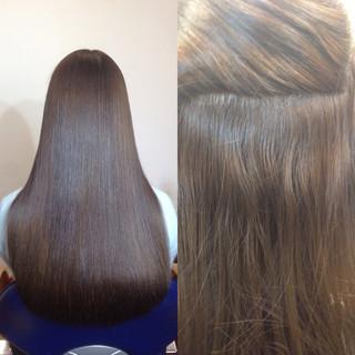 大人かわいい フェミニン アッシュ ブラウン ヘアスタイルや髪型の写真・画像