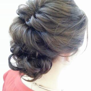 ロング 波ウェーブ ヘアアレンジ ショート ヘアスタイルや髪型の写真・画像