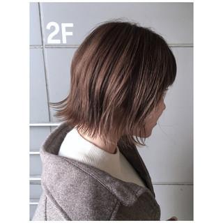 ミルクティーベージュ ミルクティー ナチュラル ボブ ヘアスタイルや髪型の写真・画像