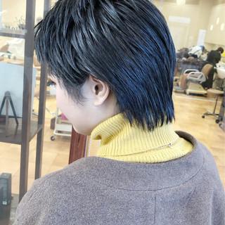 アッシュ 暗髪 ベリーショート 暗髪女子 ヘアスタイルや髪型の写真・画像