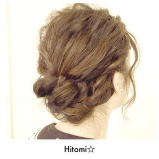 ロープ編み 波ウェーブ ヘアアレンジ 編み込み ヘアスタイルや髪型の写真・画像
