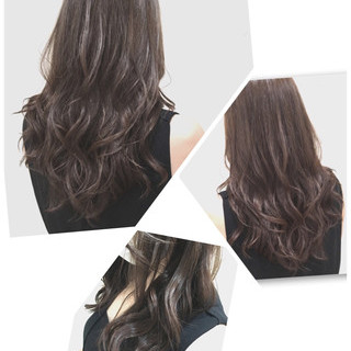 外国人風カラー ブルージュ ミディアム グレージュ ヘアスタイルや髪型の写真・画像