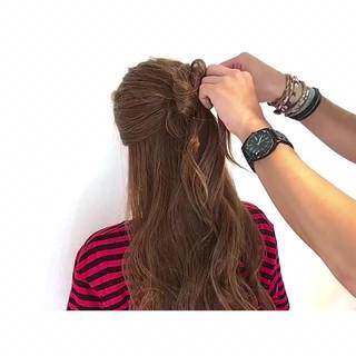 アウトドア エレガント 色気 簡単ヘアアレンジ ヘアスタイルや髪型の写真・画像