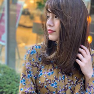 ナチュラル ミディアム ヘアアレンジ デート ヘアスタイルや髪型の写真・画像