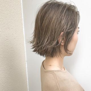 スポーツ ボブ ハイライト 外国人風 ヘアスタイルや髪型の写真・画像