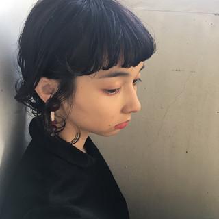 黒髪 ヘアアレンジ デート ショート ヘアスタイルや髪型の写真・画像 ヘアスタイルや髪型の写真・画像