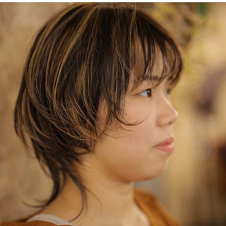 ヘアアレンジ ガーリー 外ハネ ショート ヘアスタイルや髪型の写真・画像