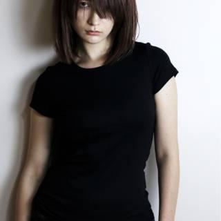 大人女子 黒髪 モード ロング ヘアスタイルや髪型の写真・画像
