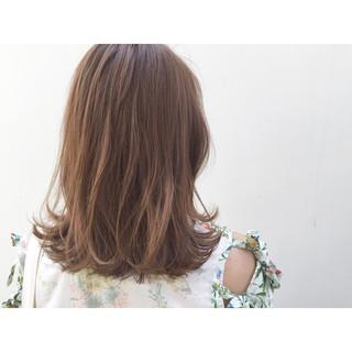 暗髪 ナチュラル ミディアム グラデーションカラー ヘアスタイルや髪型の写真・画像