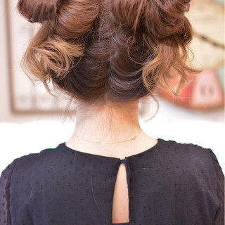 ガーリー 簡単ヘアアレンジ デート ヘアアレンジ ヘアスタイルや髪型の写真・画像