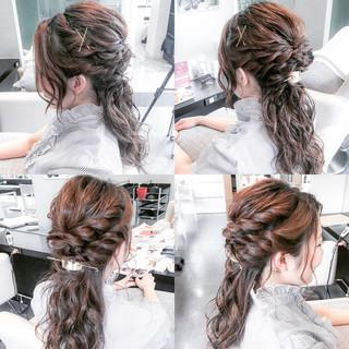 上品 ハーフアップ ロング エレガント ヘアスタイルや髪型の写真・画像