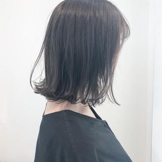 簡単ヘアアレンジ ダークトーン ヘアアレンジ 切りっぱなしボブ ヘアスタイルや髪型の写真・画像 ヘアスタイルや髪型の写真・画像