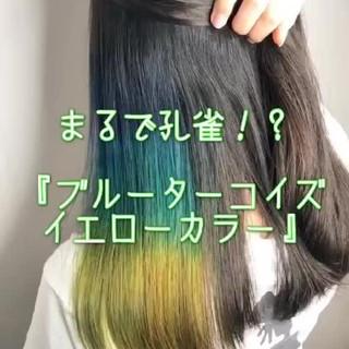 ヘアカラー フェミニン 可愛い セミロング ヘアスタイルや髪型の写真・画像 ヘアスタイルや髪型の写真・画像