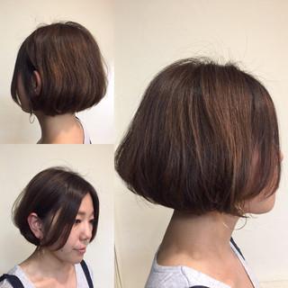パーマ ボブ ワンカール ショートボブ ヘアスタイルや髪型の写真・画像