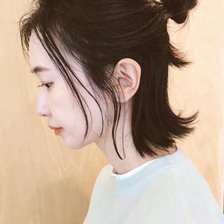 お団子アレンジ セルフアレンジ ボブ ヘアアレンジ ヘアスタイルや髪型の写真・画像