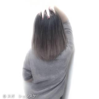 ミディアム アッシュ ストリート 外国人風 ヘアスタイルや髪型の写真・画像