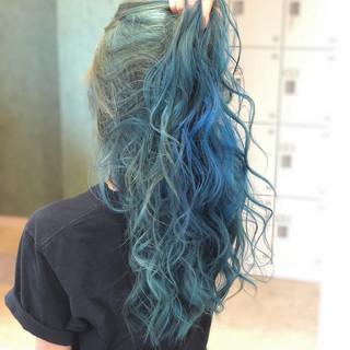 透明感 ロング ヘアアレンジ 外国人風カラー ヘアスタイルや髪型の写真・画像