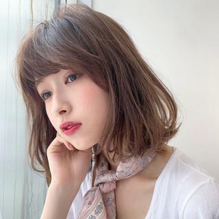 ガーリー ボブ 透明感カラー アンニュイほつれヘア ヘアスタイルや髪型の写真・画像
