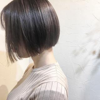 大人女子 ショート ナチュラル ボブ ヘアスタイルや髪型の写真・画像