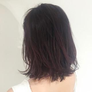 ミディアム ナチュラル デート 透明感 ヘアスタイルや髪型の写真・画像