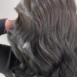 ロング コントラストハイライト フェミニン 3Dハイライト ヘアスタイルや髪型の写真・画像