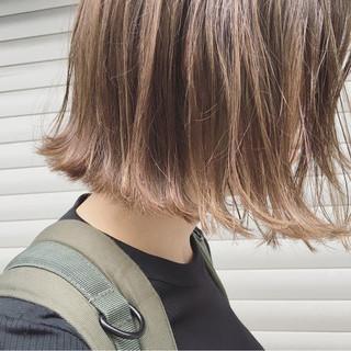ボブ 秋 外ハネ 透明感 ヘアスタイルや髪型の写真・画像