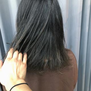 就活 ブルーアッシュ ナチュラル 暗髪 ヘアスタイルや髪型の写真・画像