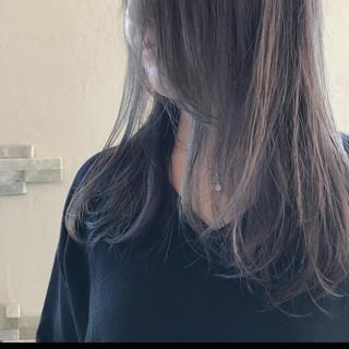 ロング 秋 ナチュラル モーブ ヘアスタイルや髪型の写真・画像